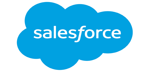 Salesforce blue cloud logo