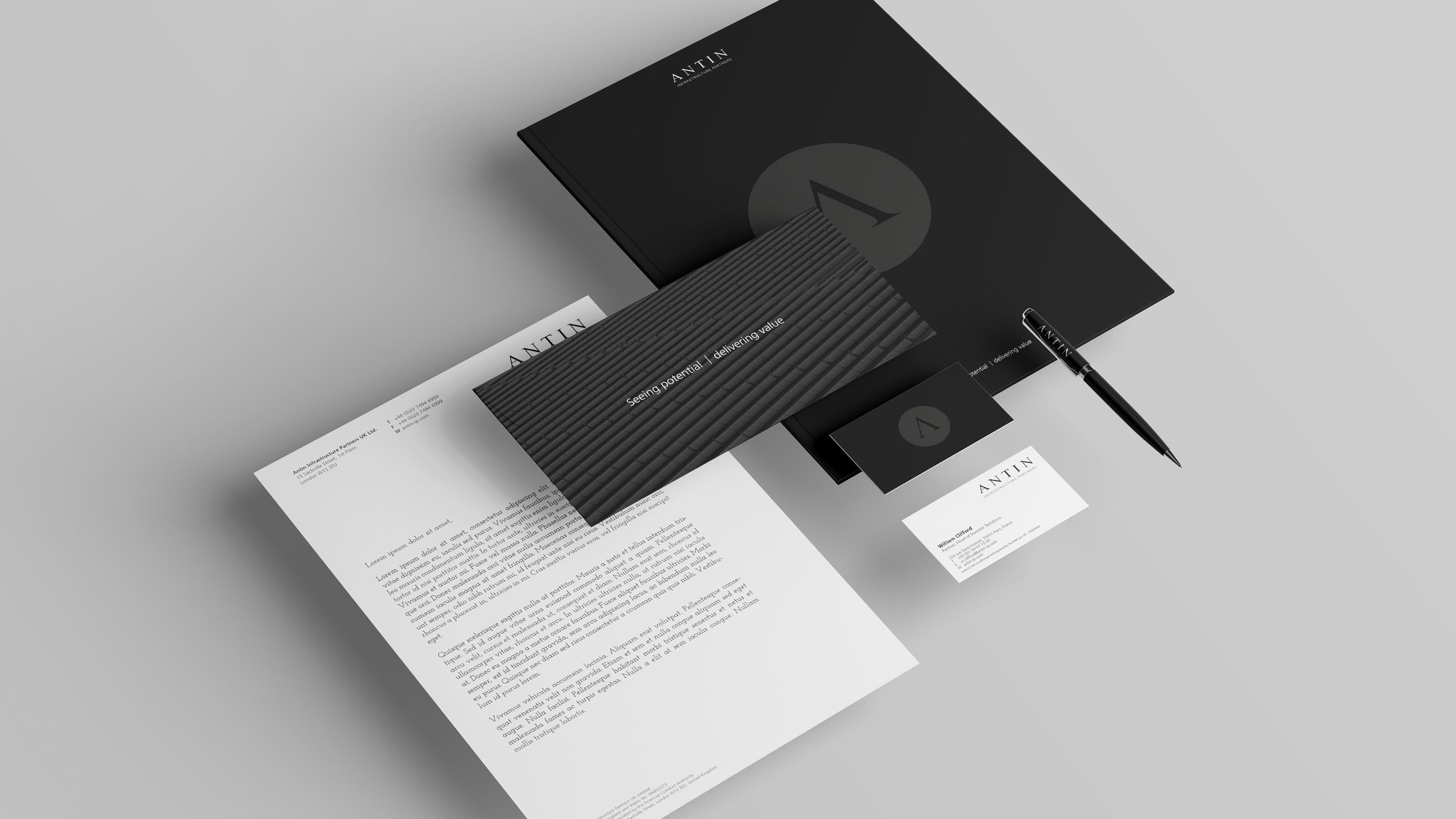 Brand print design Antin