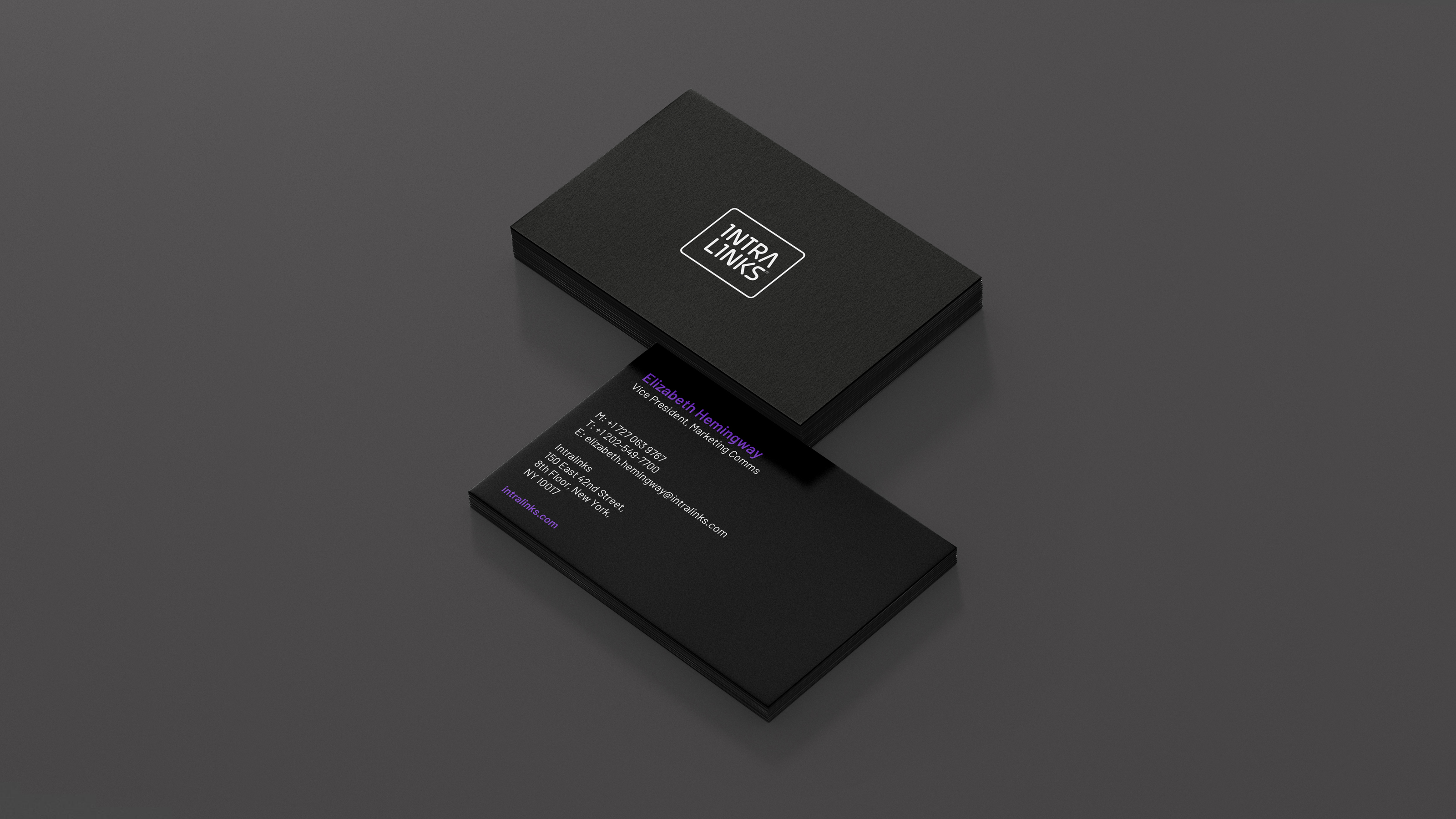 Brand business card Intralinks
