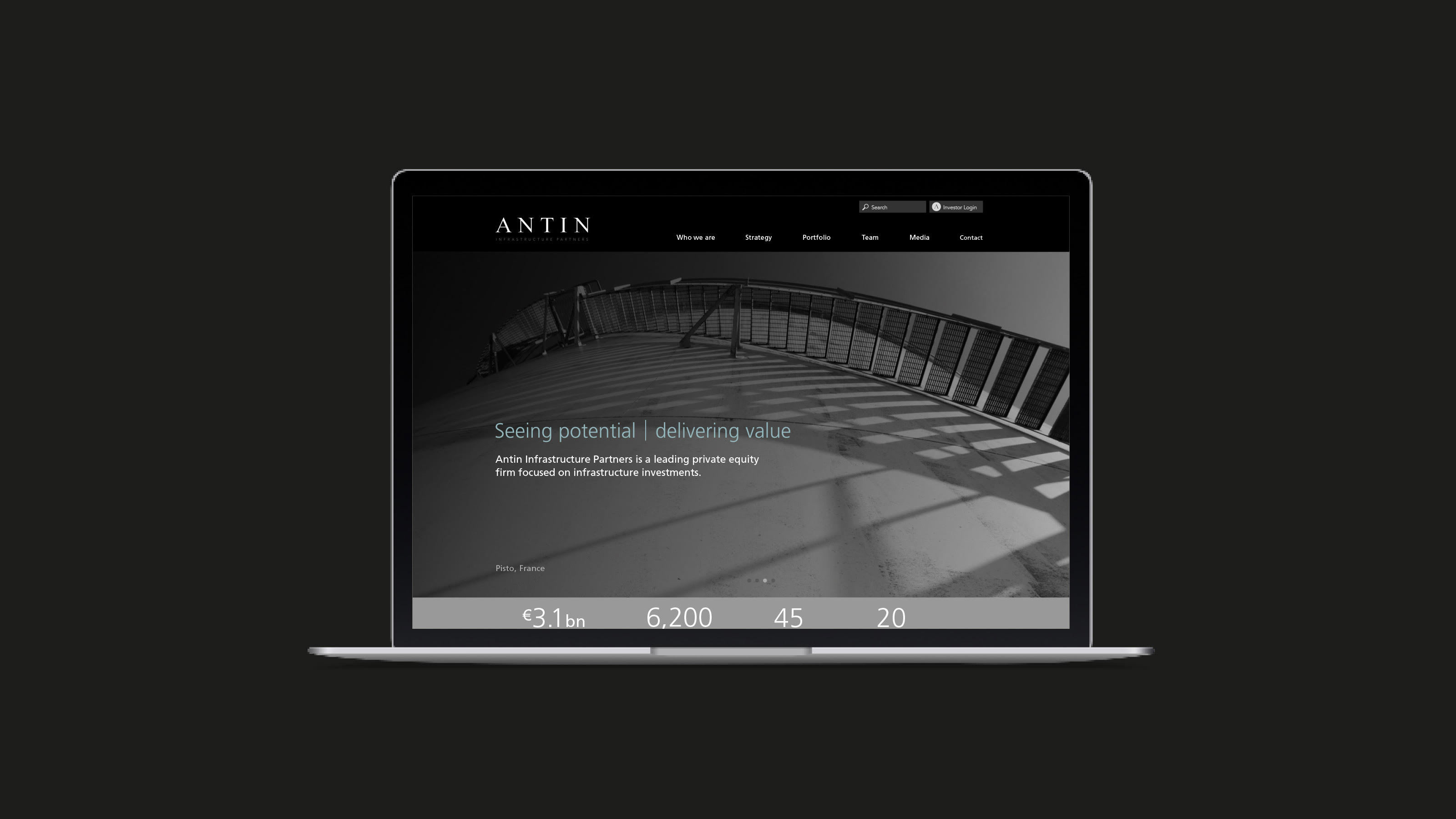 Antin digital home page design