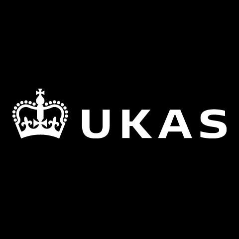 UKAS logo in white