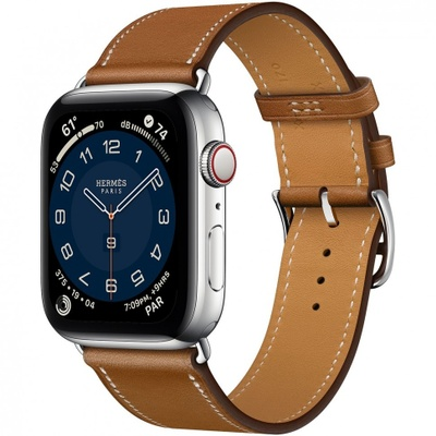 Apple Watch Series 6 Hermes Insurance phone with brown strap
