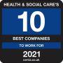 Best Companies Health & Social Care Top 10 2021