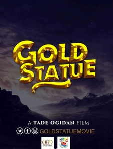 Gold Statue Poster