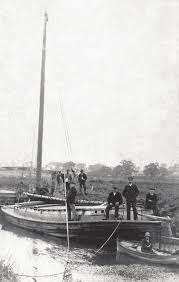 Wherry at Bulcamp Lock on the River Blyth near Blyford and Wenhaston. The Lock was blown up by the Home Guard during WWII to as a precaution stop the invading Germans. Photo was taken in 1900s I think..jpg