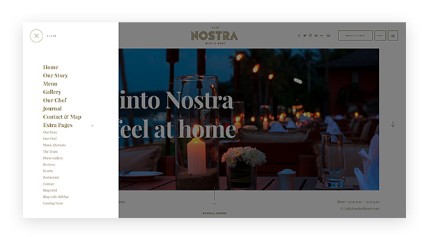 nostra - an elegant cafe & restaurant wordpress theme (restaurants & cafes) Nostra – An Elegant Cafe & Restaurant WordPress Theme (Restaurants & Cafes) 3