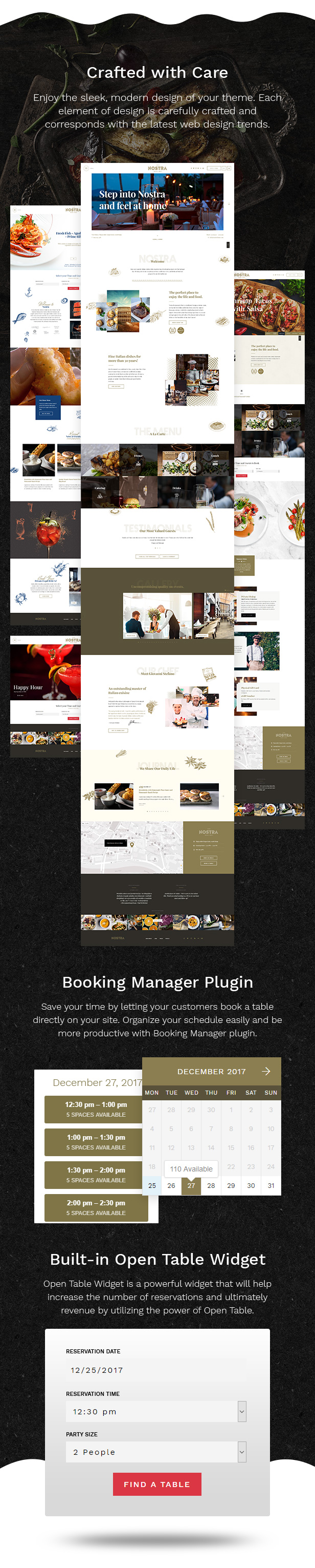 nostra - an elegant cafe & restaurant wordpress theme (restaurants & cafes) Nostra – An Elegant Cafe & Restaurant WordPress Theme (Restaurants & Cafes) 6
