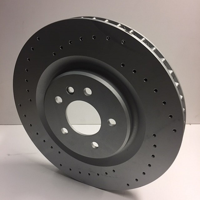 Brake Disc, front, cross-drilled,L/H image