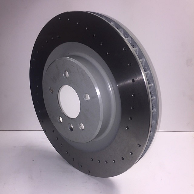 Brake Disc, front, cross-drilled, R/H image