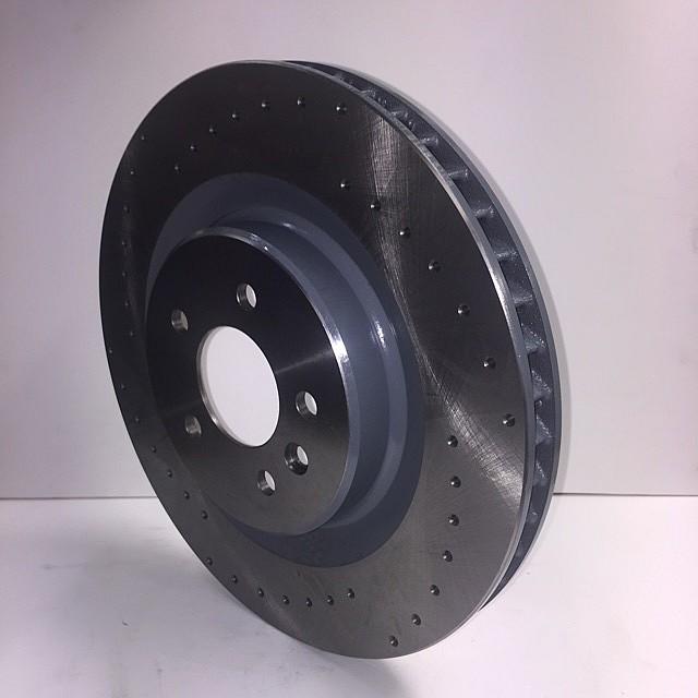 Brake Disc, front, cross-drilled, L/H image