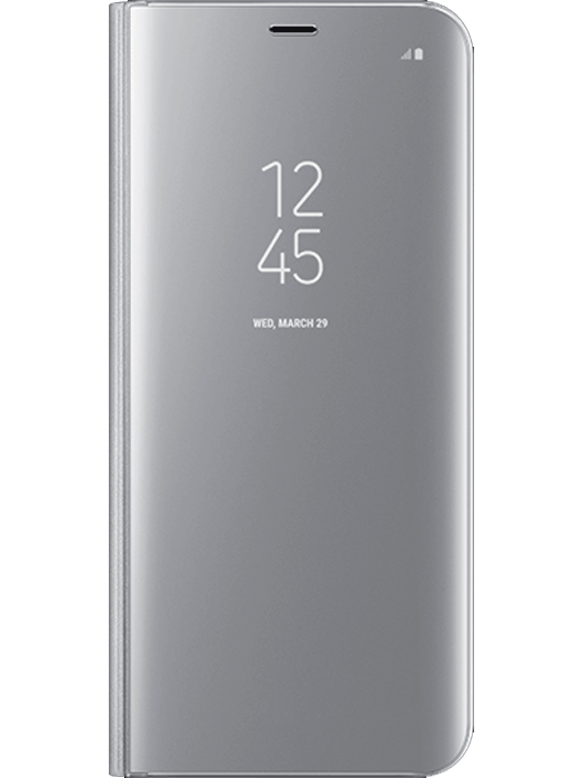 Samsung Clear View Cover Galaxy S8+ Sølv
