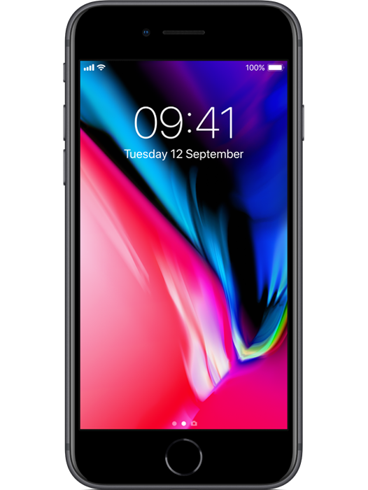 iPhone 8 256 GB Stellargrå