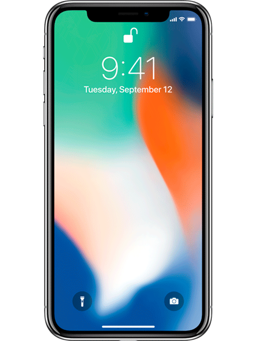 iPhone X 256 GB Sølv