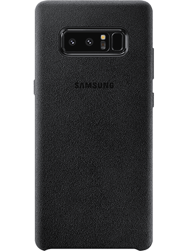 Alcantara Cover Galaxy Note 8 Svart