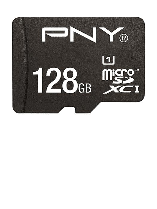MicroSD m/adapter 128GB Svart