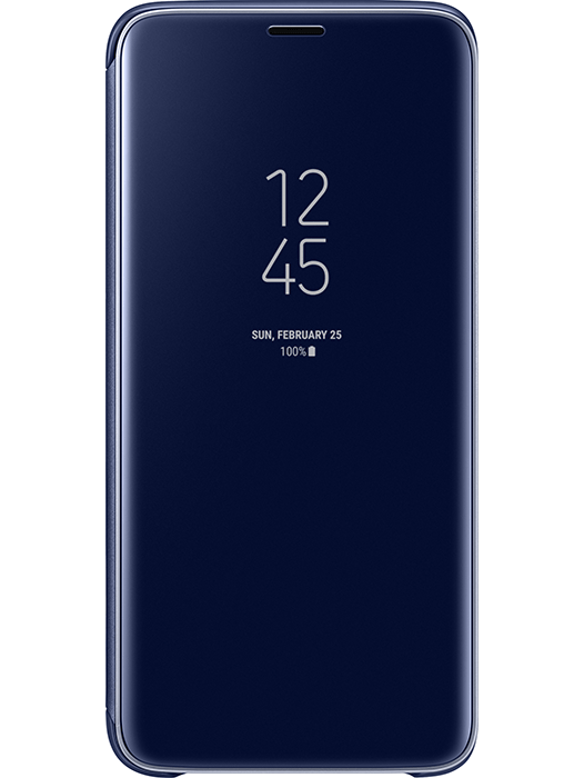Clear View Cover Galaxy S9 Blå