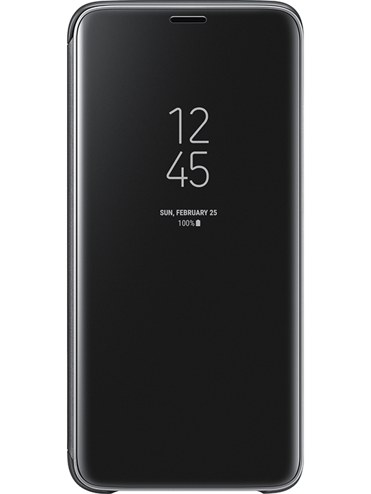 Clear View Cover Galaxy S9 Svart