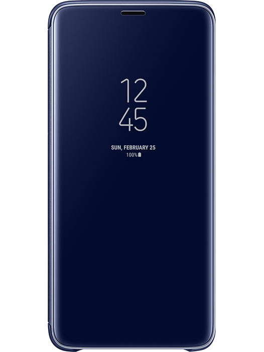 Clear View Cover Galaxy S9+ Blå