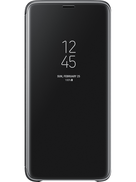 Clear View Cover Galaxy S9+ Svart