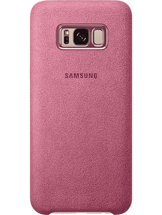 Alcantara Cover Galaxy S8+ Rosa