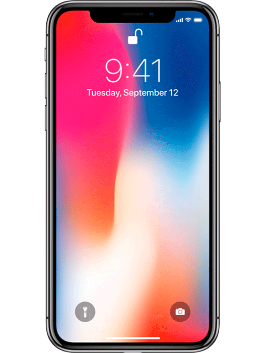 iPhone X 256 GB Stellargrå