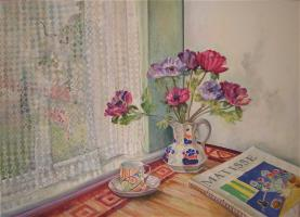Matisse and Anemones by the Window