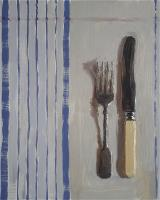 cutlery on dishcloth