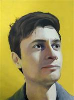 Portrait with a yellow background