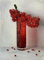 Red Vase with Berries