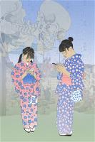 Pictures of the floating world - 21st century girls (I) (Kindai ukiyoe)