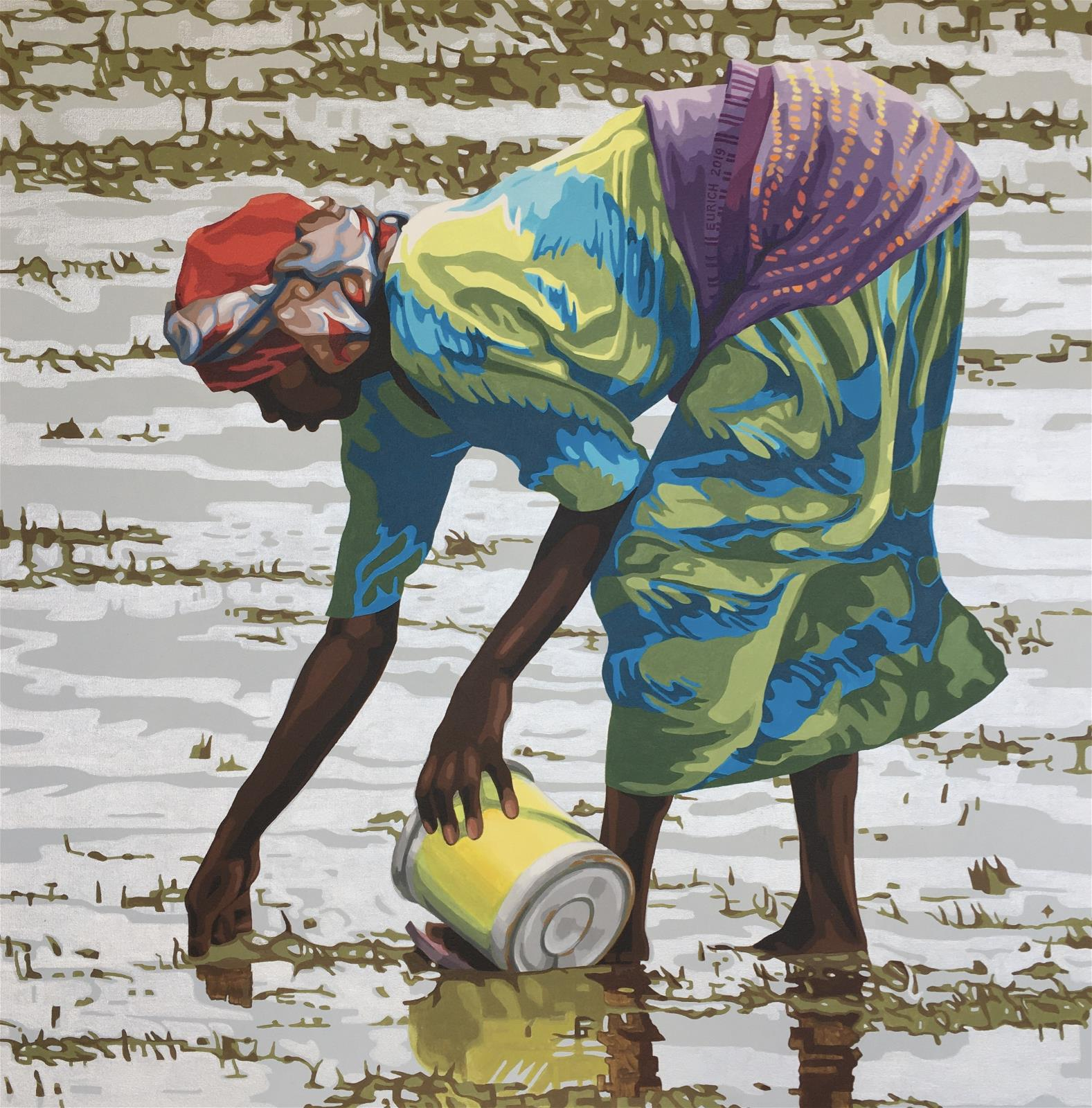 Collecting Shellfish at Low Tide, Zanzibar #2