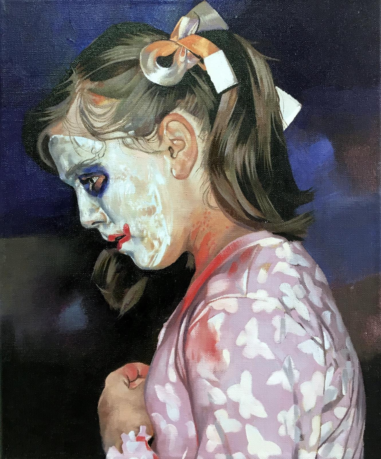 Behind the Clown Paint