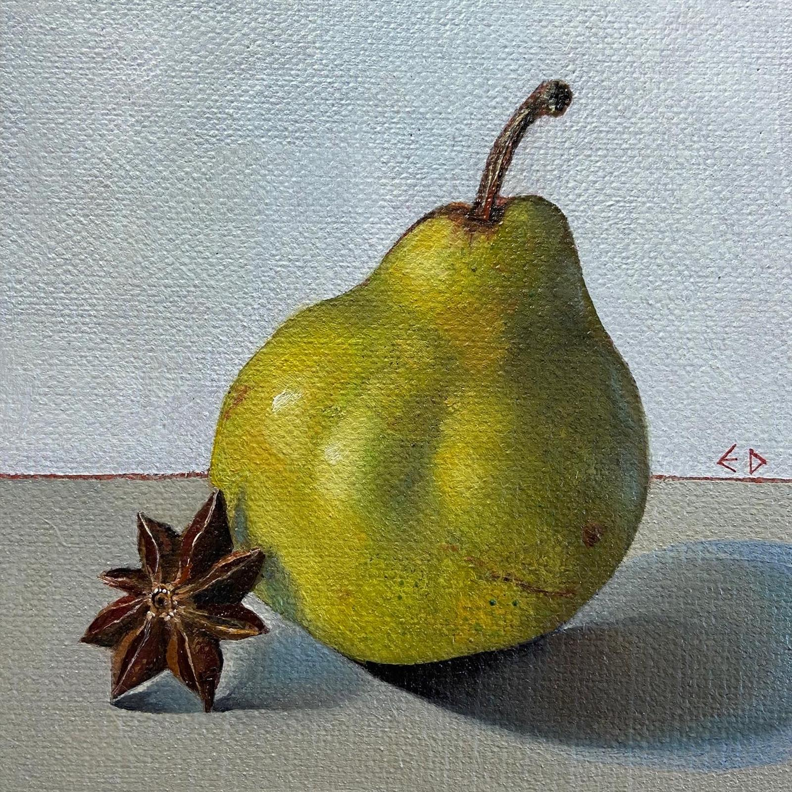 Little green pear with star Anise