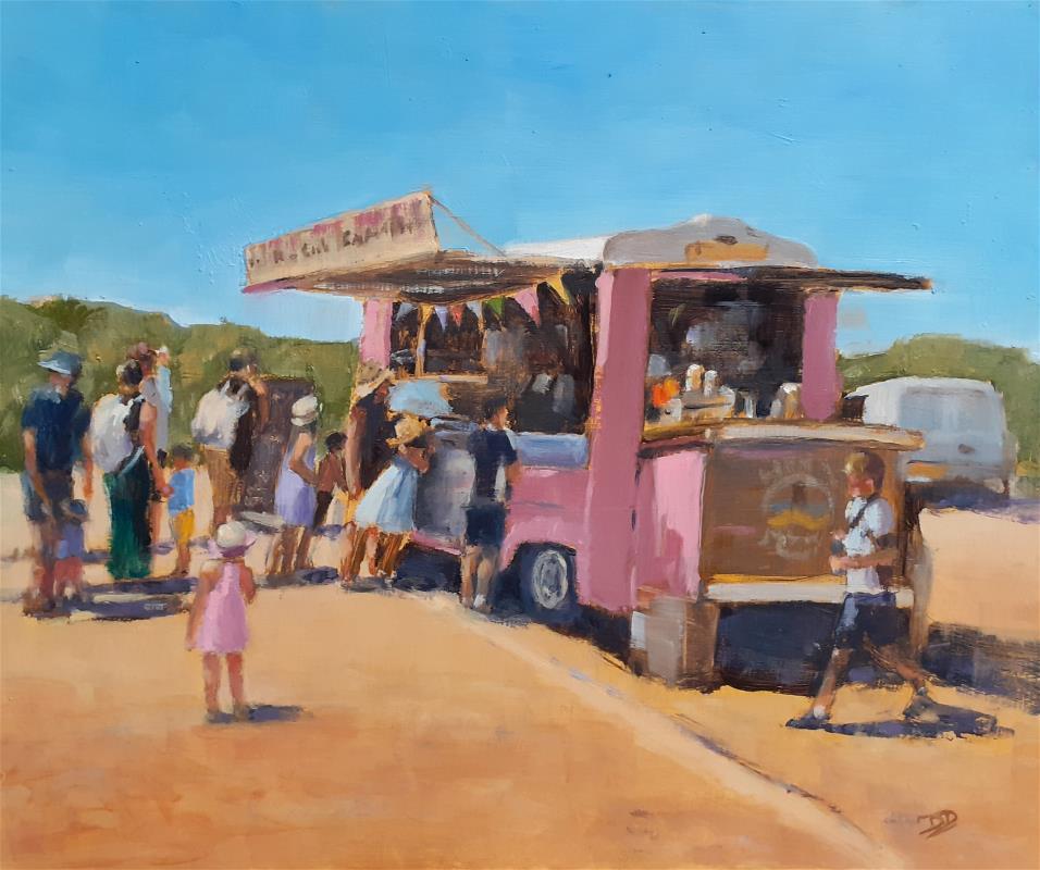 The pink gastrobus, Bantham Beach