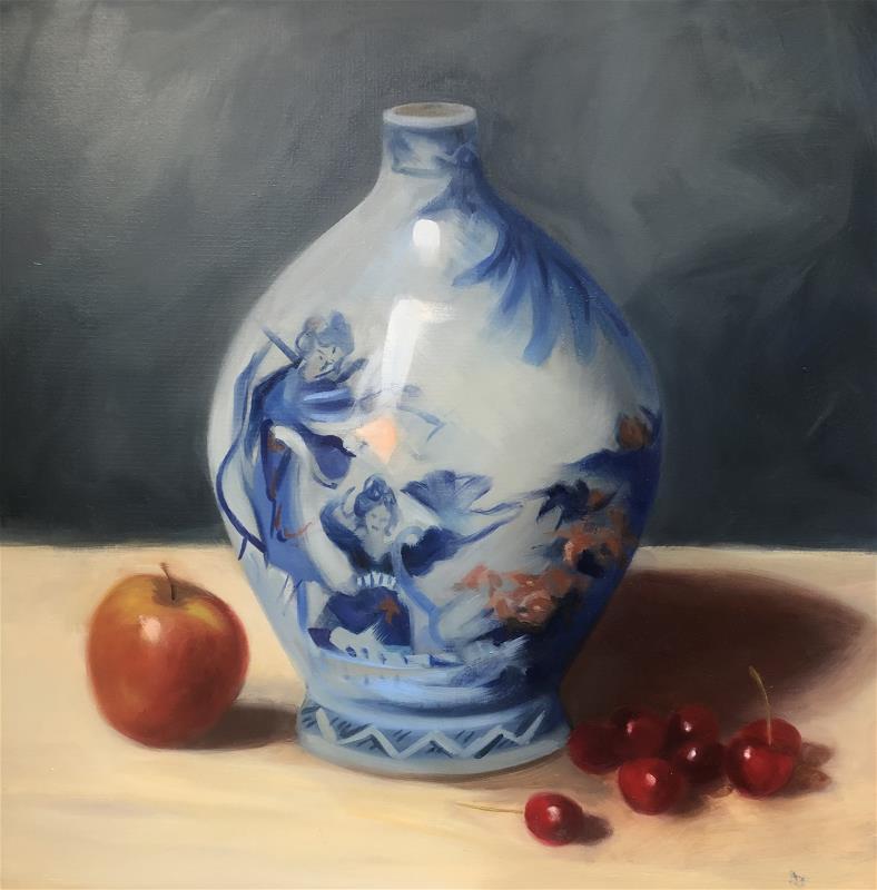 Chinese Vase with Cherries