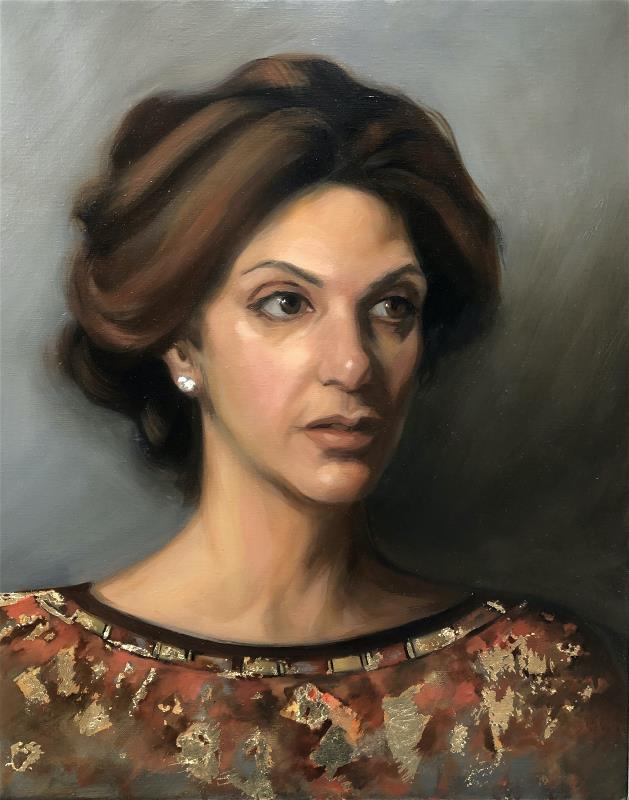 Gold Leaf Portrait