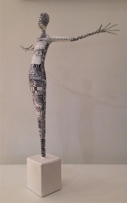 Plaster & Wire Figure