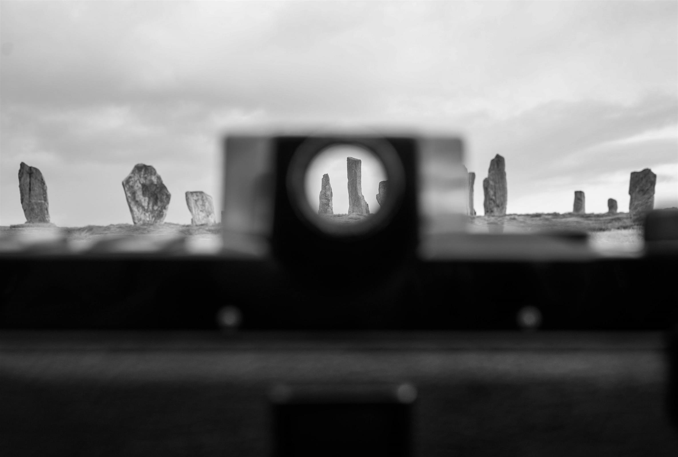 Callanish Stones Through The Viewfinder