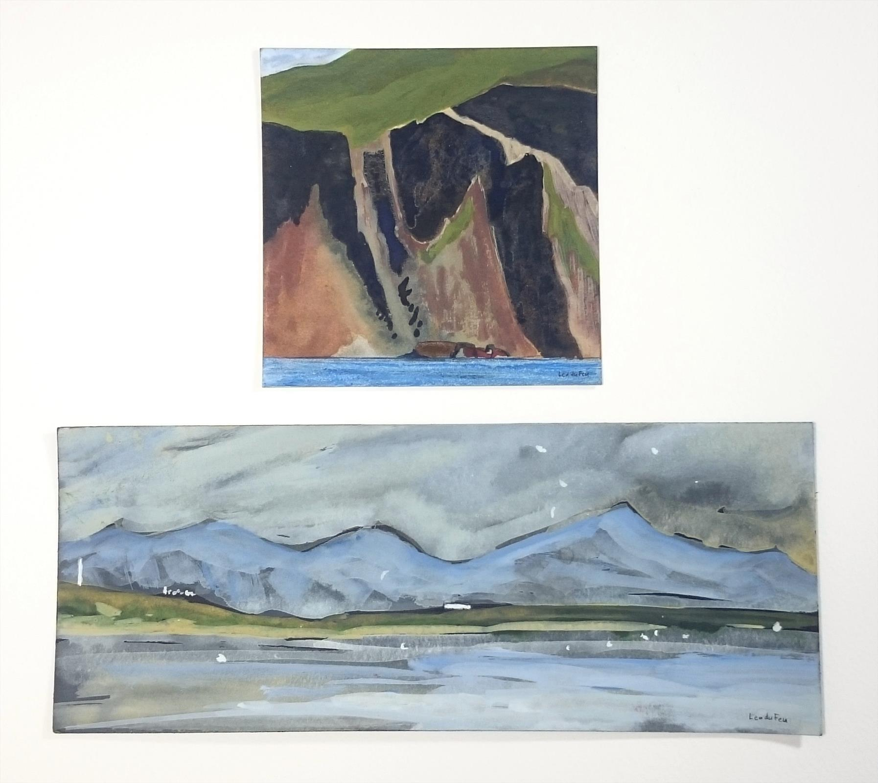 Hebridean diptych - cliff and croft