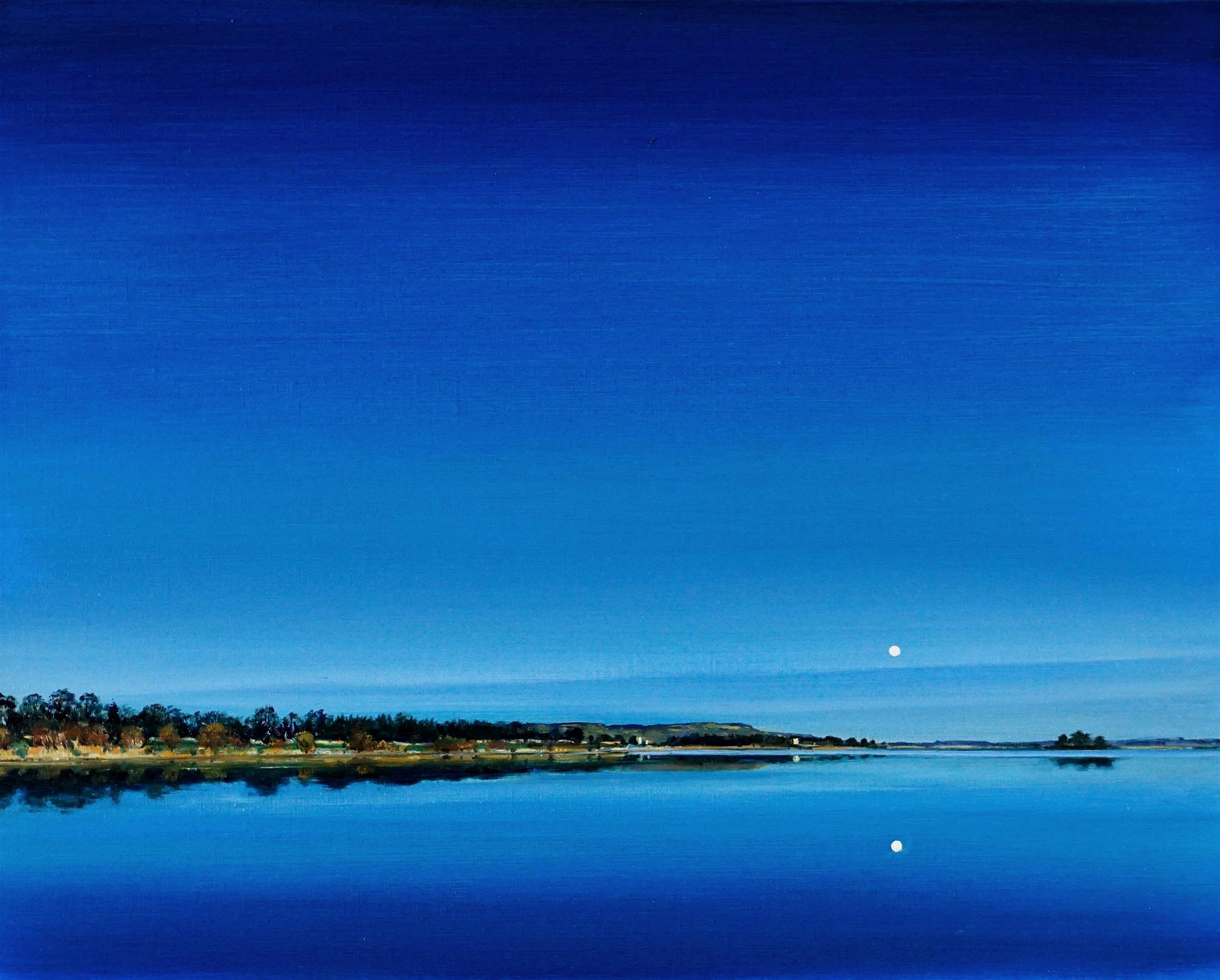 Clock calm moonrise, Loch Leven