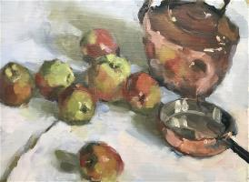 Copper Kettle and Apples