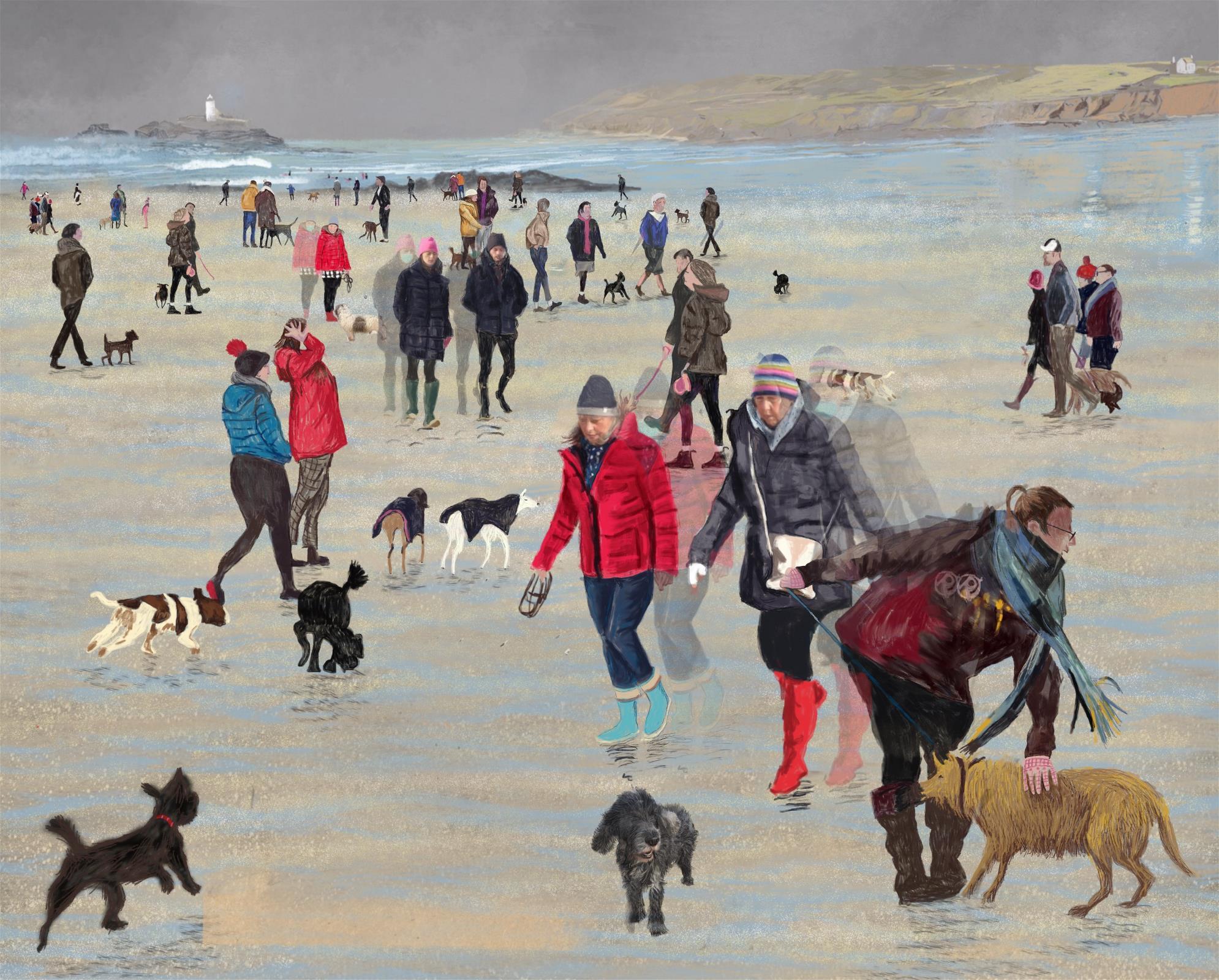 godrevy beach February 2020