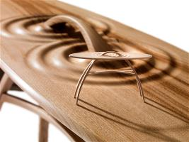 'Still Water' a rippled occasional table in sweet chestnut from RBGE