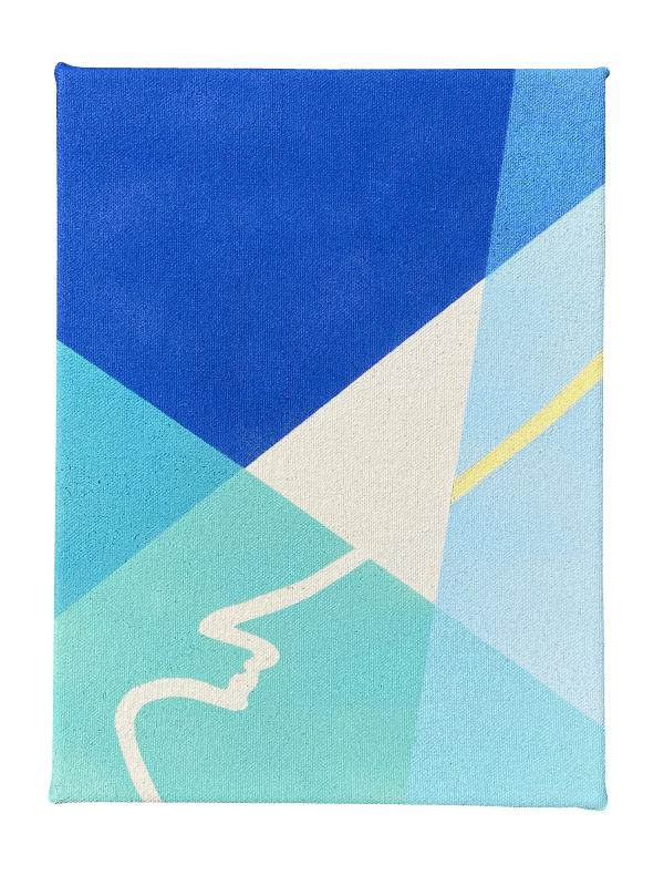 Small Boundaries Series (Blue I): Edition of 5, 3 available