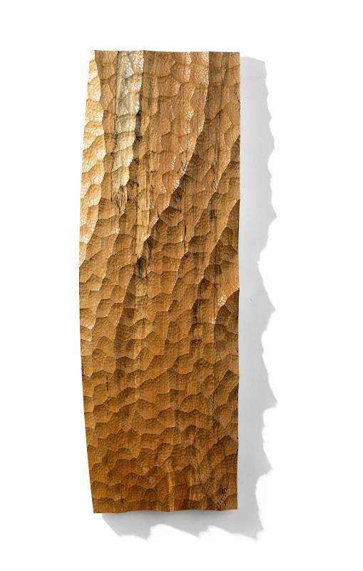 Ebb Tide - handcarved wall panel in ash