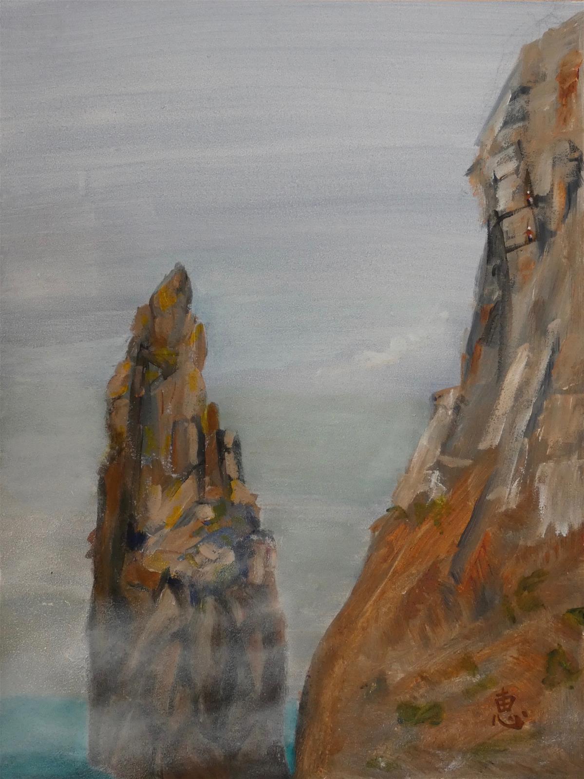 Climbers in the Mist, Bosigran