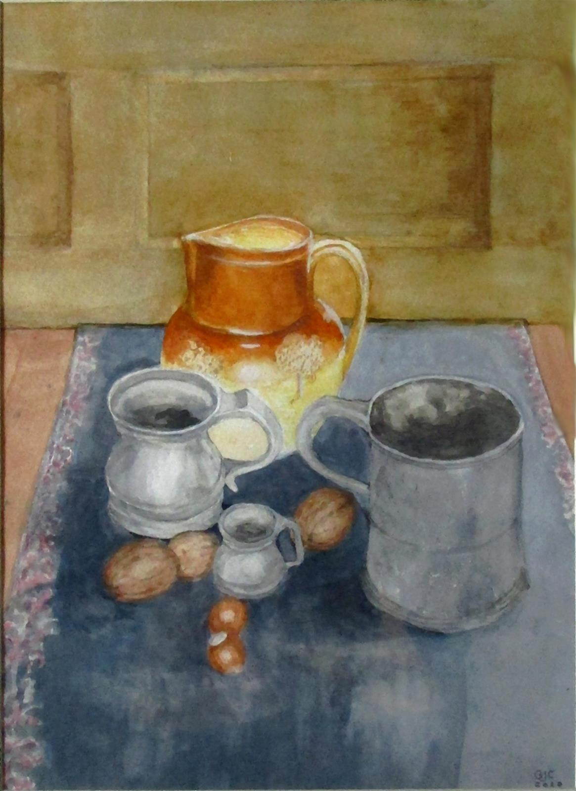 STILL LIFE WITH PEWTER