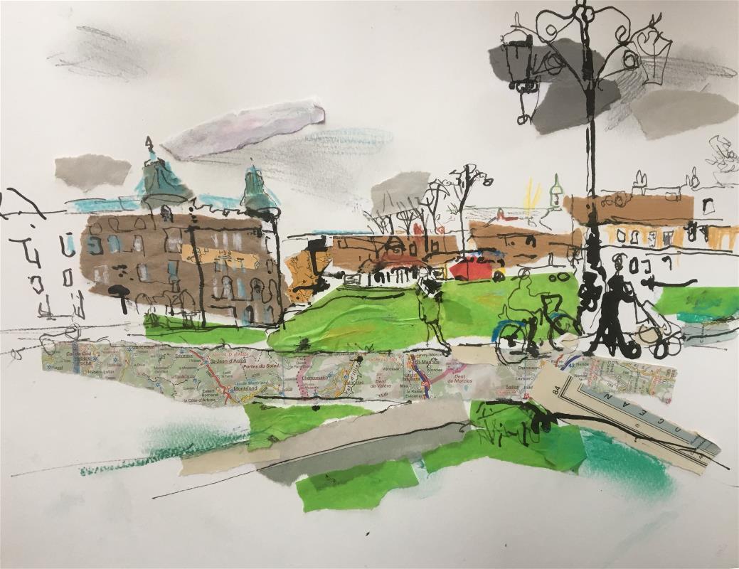 Along Parker's Piece, Cambridge