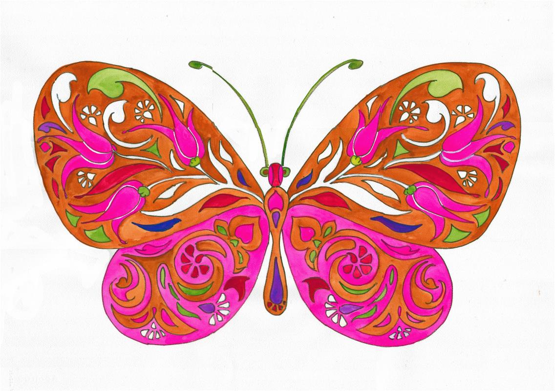 Pinkish Butterfly