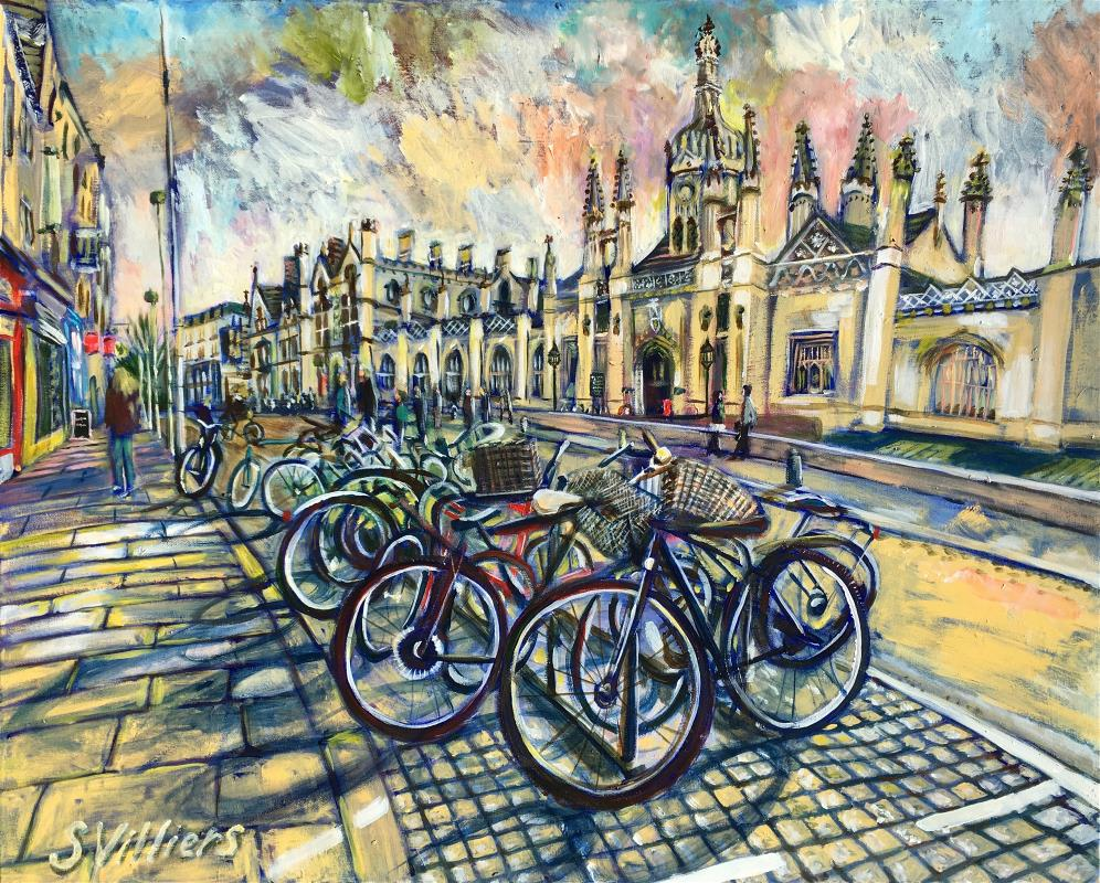 King's Parade Bicycle Sunset